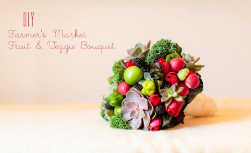 Diy Fruit And Vegetable Bouquet For A Rustic Wedding