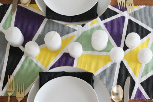 DIY Geometric Table Runner For Modern Weddings