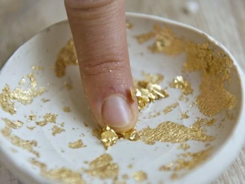 Diy Gold Leaf Clay Ring Bowl
