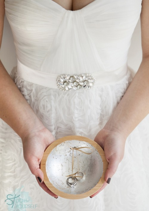 Diy Gold Leaf Ring Bearer Dish