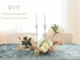 Diy Grapewood Wedding Centerpiece