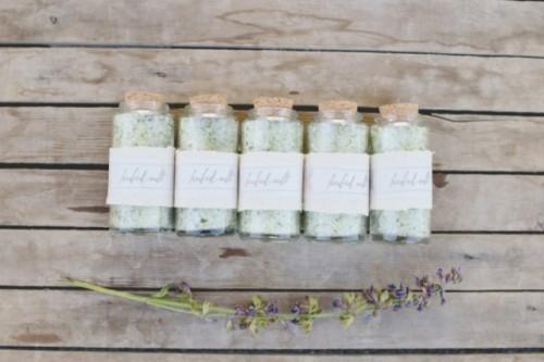 Diy Herbed Salt Guest Favors