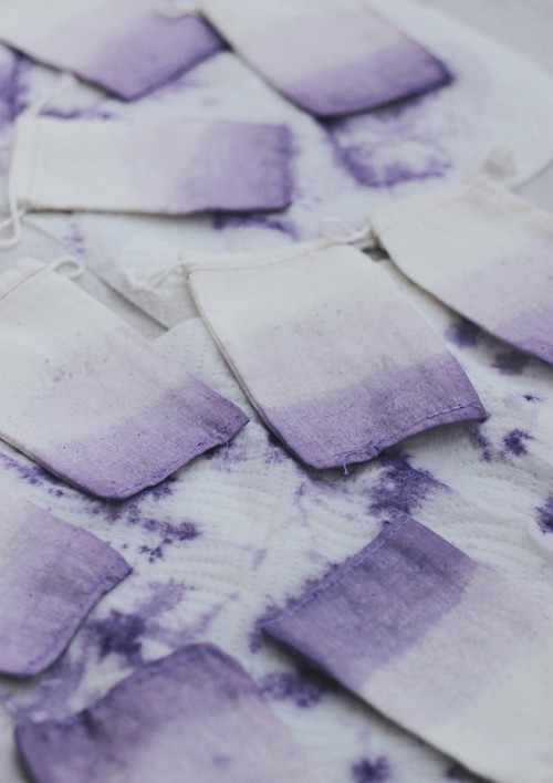 Diy Lavender Ombre Wedding Favor Bags