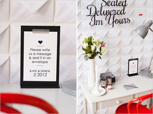 Picture Of Diy Love Note Envelope Wall For Wedidng Reception Decor