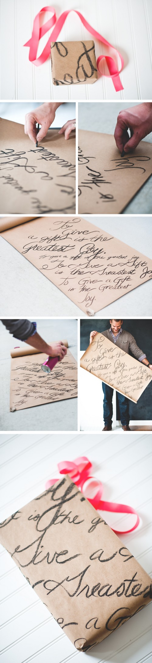 Diy Love Note Wrapping Paper