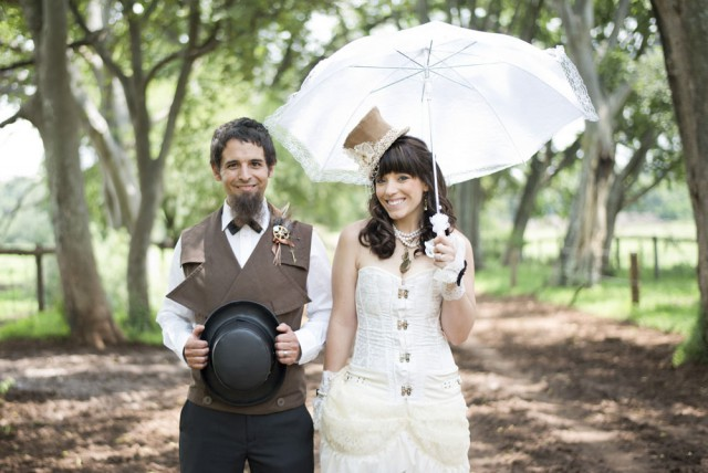 Picture Of diy low cost south african steampunk wedding  1