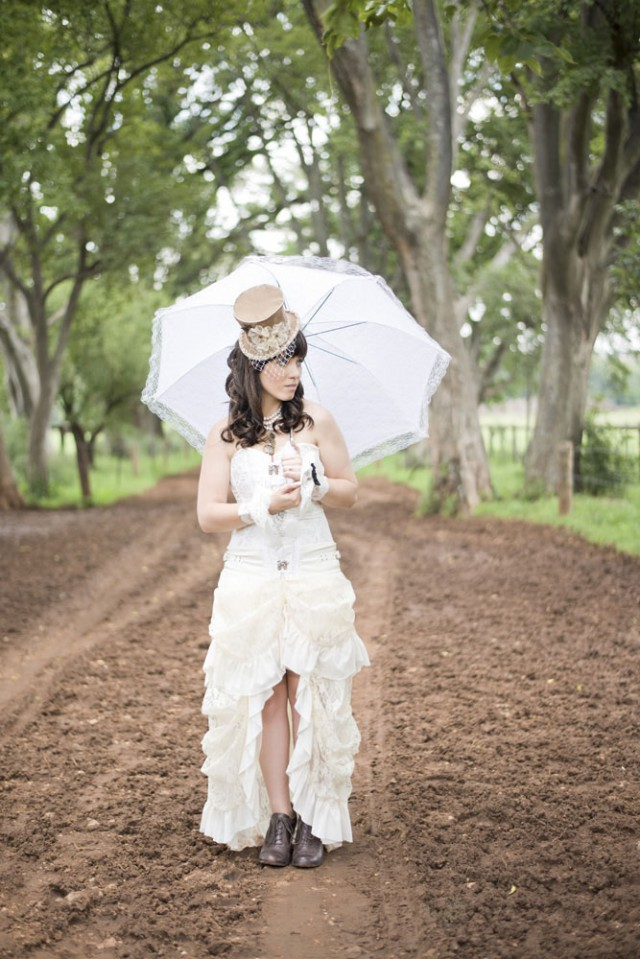 Picture Of diy low cost south african steampunk wedding  5