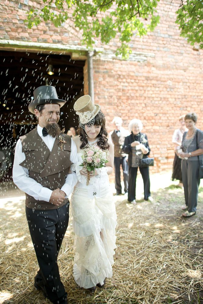 Picture Of diy low cost south african steampunk wedding  8