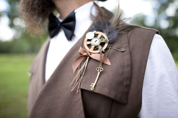 Picture Of diy low cost south african steampunk wedding  9