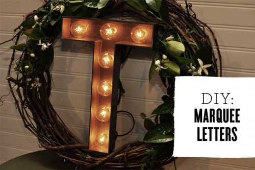 Diy Marquee Letters For Wedding Decor