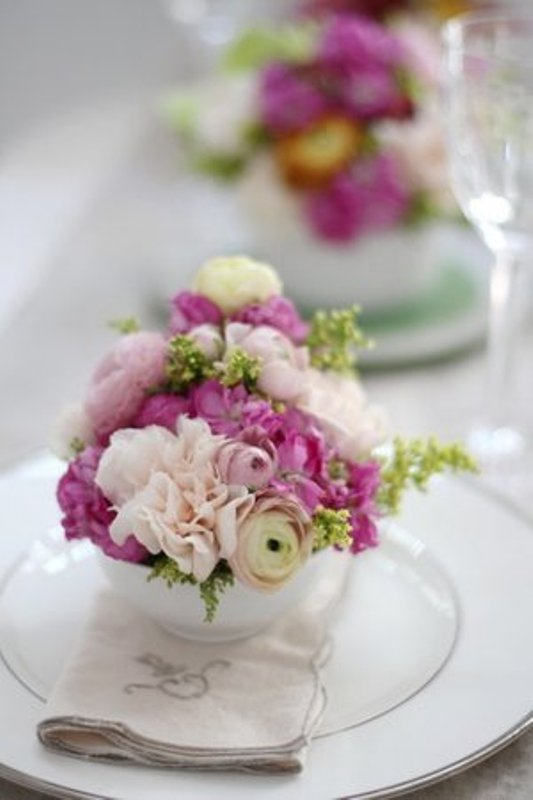 Picture Of Diy Mini Florals For Your Wedding Table Settings