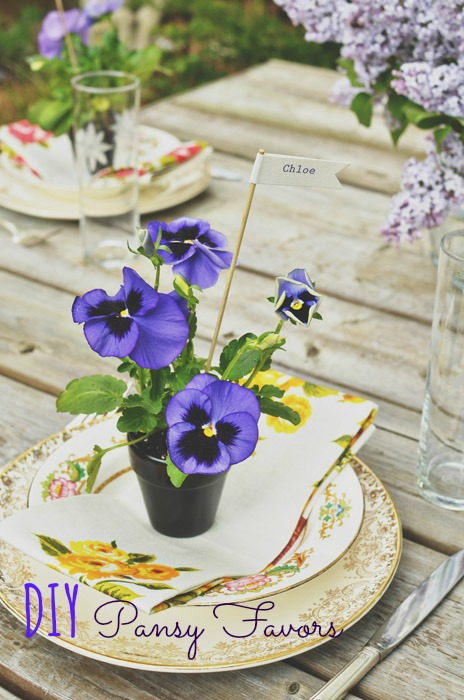 DIY Pansy Favors For Summer Weddings Weddingomania
