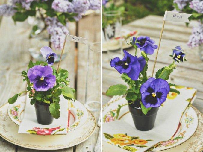 Summer Wedding Favor Ideas Diy : Diy Pansy Favors For Summer Weddings Weddingomania