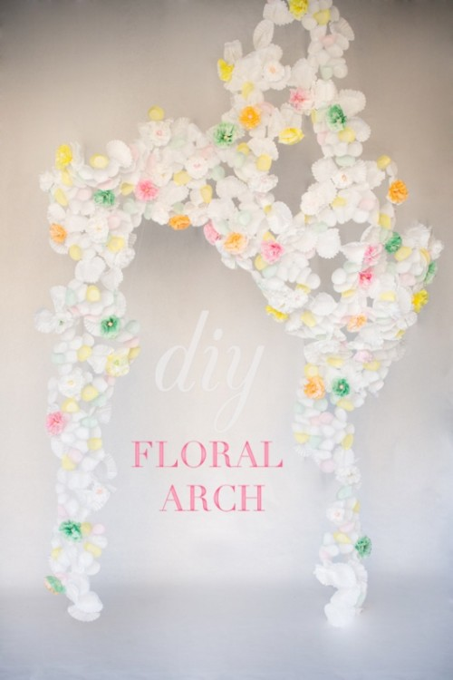 Cute DIY Paper Flower Arch