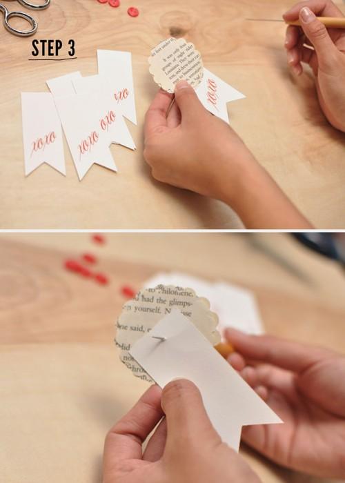 Diy Paper Flower Ribbons For Guest Favors