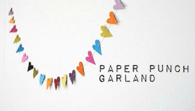 Diy Paper Punch Garland