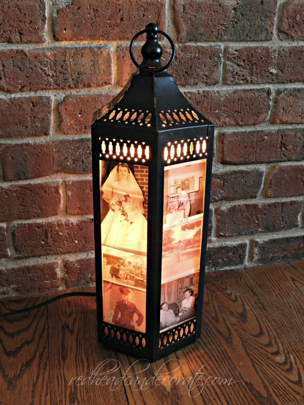Diy Photo Lantern For Reception Tables