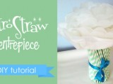 Diy Retro Straw Vase Centerpiece