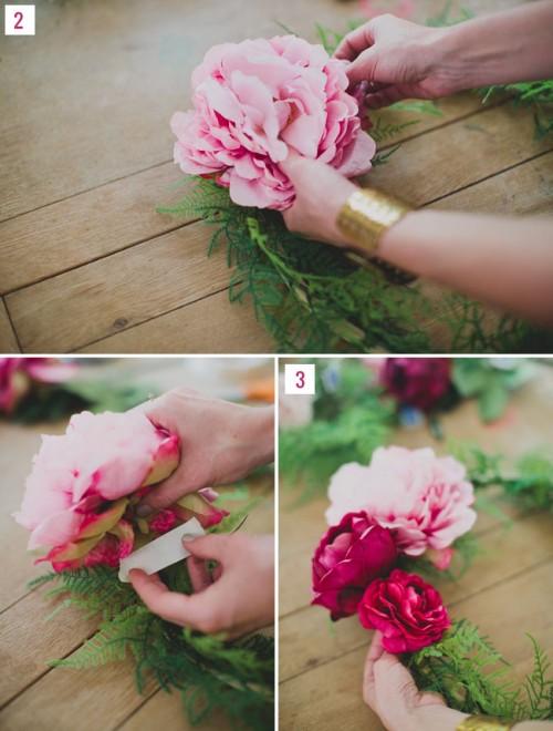 DIY Silk Flower Wreath For Wedding Backdrops - Weddingomania