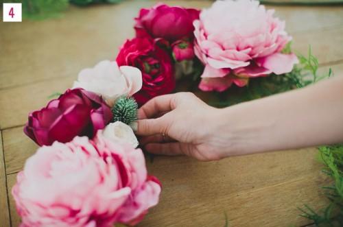 Diy Silk Flower Wreath For Wedidng Backdrops