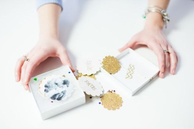 Diy Sparkly Save The Date