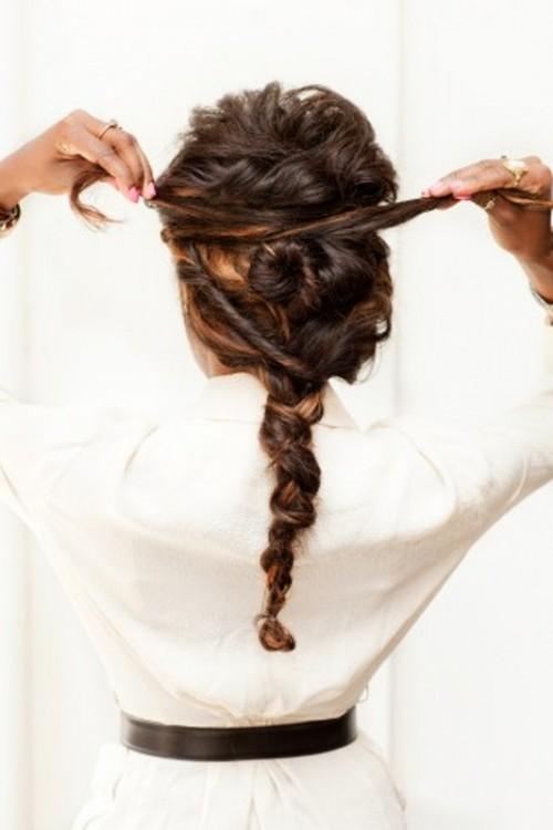 Diy super twisted braid wedding hairstyle weddingomania
