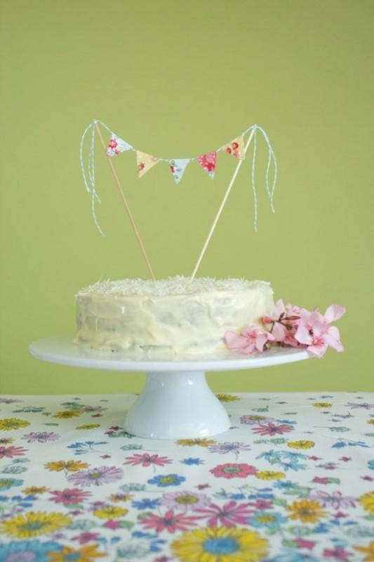 Diy Sweet And Homespun Cake Topper