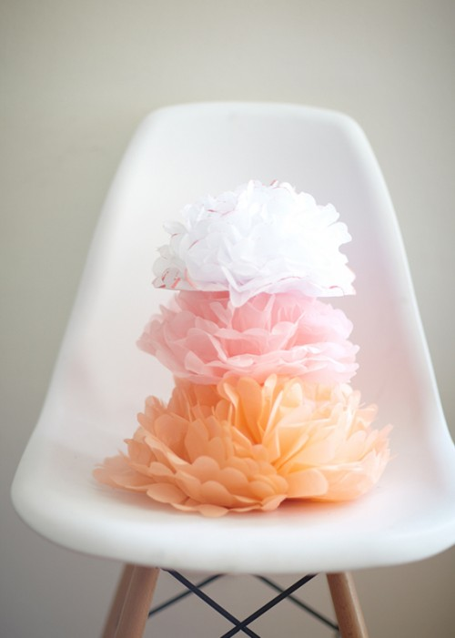 Diy Tissue Pom Heart For Wedding Decor