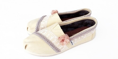 Diy Toms With Lace And Flowers Perfect For Summer Wedding