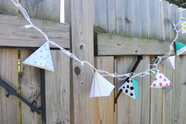 Picture Of diy triangle garland for wedding reception decor  1
