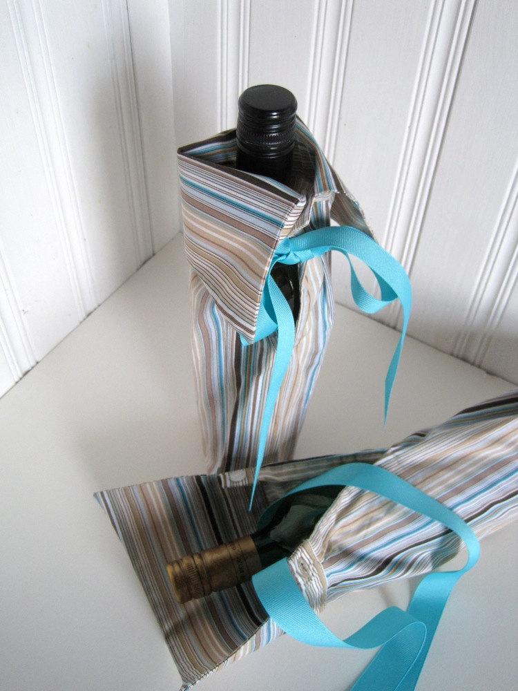 Diy Upcycled Sleeve Wine Bag