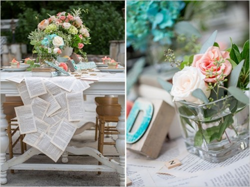 DIY Vintage Book Page Table Runner For Your Wedding