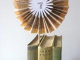 Diy Vintage Books Table Numbers