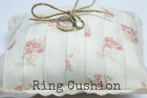 DIY Vintage Wedding Ring Cushion