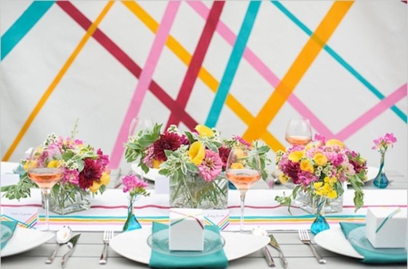 Diy Washi Tape Inspired Wedding Decor