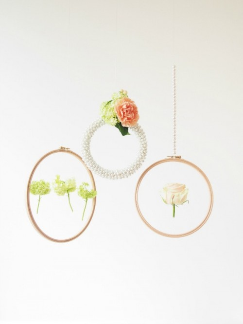 glam hanging hoops backdrop (via crafts)