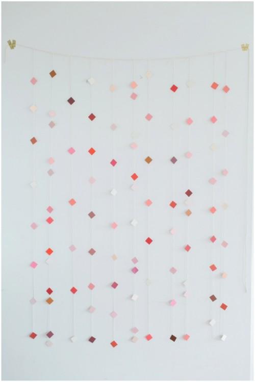 geometric paper backdrop (via thebudgetsavvybride)