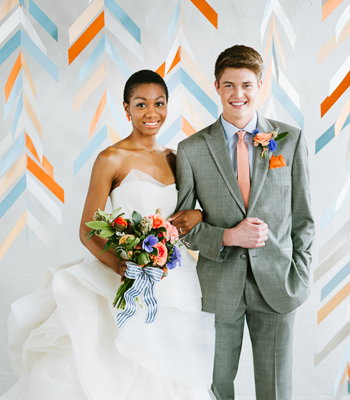 herringbone backdrop (via confettipop)