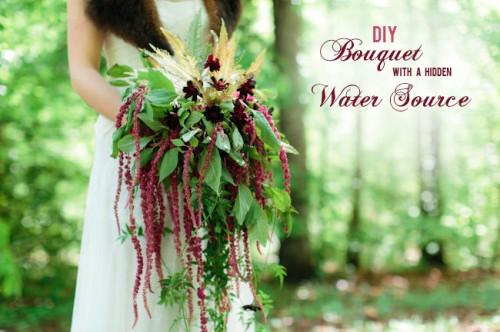 DIY Wedding Bouquet With A Hidden Water Source