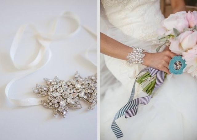 DIY Wedding Bracelet Of A Swarovski Motif - Weddingomania 6d7f1089d1