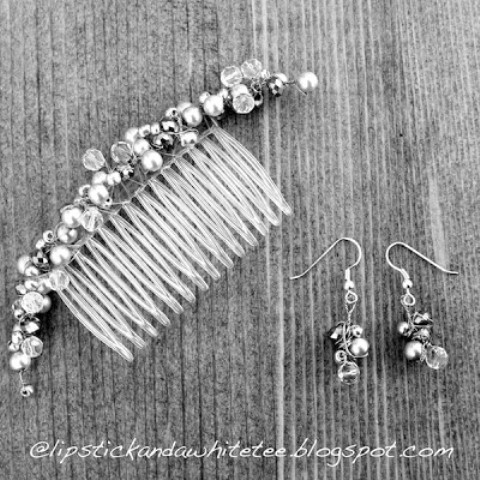 Diy Wedding Comb And Earrings