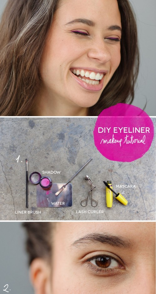 Diy Wedding Makeup Bright Colorful Eyeliner