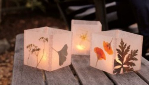 Diy Wedding Wax Paper Lanterns