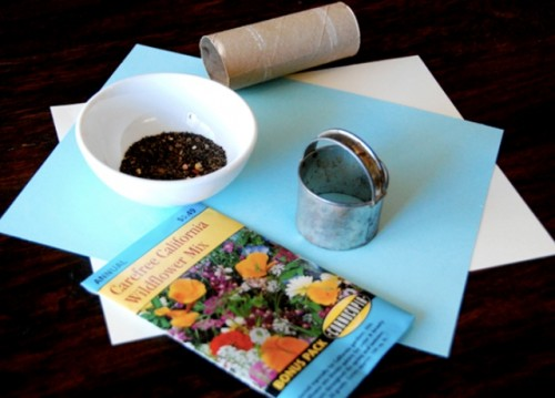 Diy Wildflower Seedpaper As Guest Favors