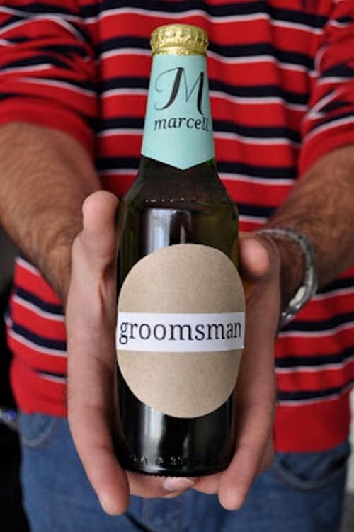 DIY 'Will You Be My Groomsmen' Beer Bottles