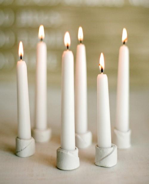 Diy Winter Wedding Candle Holders