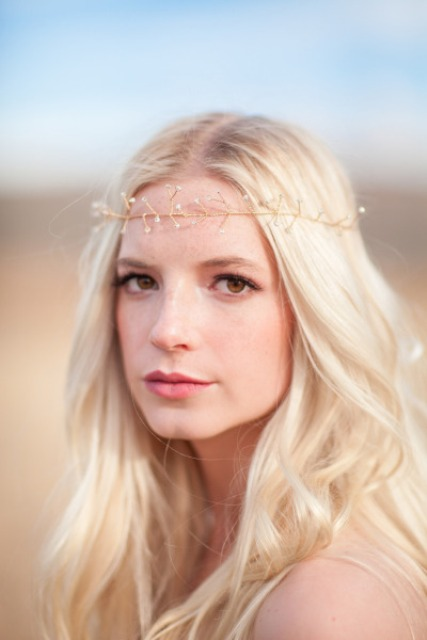 Diy Wire And Bead Crown For Boho Brides