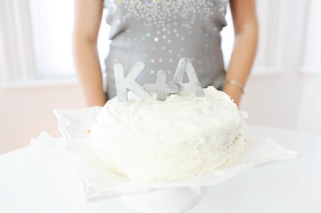 Diy Zinc Letter Cake Topper