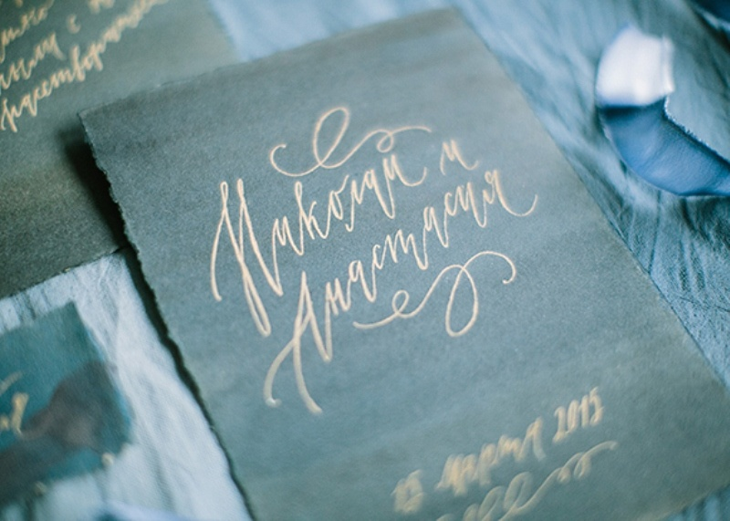 Picture Of dramatic blue and black wedding inspiration  4