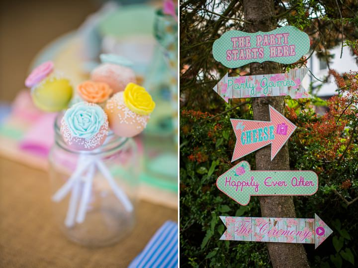 Picture Of dreamy and cute pastel glamping wedding shoot  13